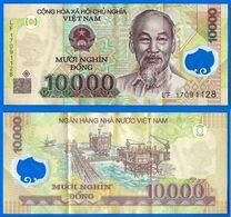 Vietnam 10000 Dong 2017 Que Prix + Port Prefixe LF 10 000 Asie Asia Billet Polymere Bitcoin Paypal OK - Vietnam
