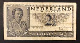 NETHERLANDS OLANDA  1945 21/2 Gulden  Lotto 1454 - [2] 1815-… : Kingdom Of The Netherlands
