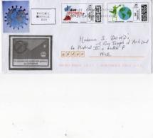 France,lettre Sur Covid 19,coronavirus,avec Montimbrenligne,spécimen,vignettes - Sellado Mecánica (Otros)