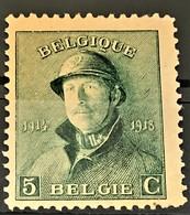 BELGIUM 1919 - MLH - Sc# 126 - 5c - 1919-1920  Cascos De Trinchera