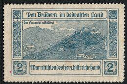 "Italia Südtirol Alto Adige ~ 1910 "" Das Fersental - Den Brüdern Im Bedrohten Land "" Vignette Cinderella Reklamemarke - Erinnofilia"