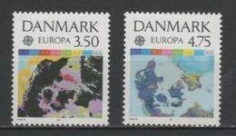 (S0101) DENMARK, 1991 (Europa Issue. European Aerospace). Complete Set. Mi ## 1000-1001. MNH** - Nuovi