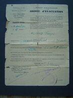 ORDRE D' EVACUATION : ETAT FRANCAIS / Cachet TOULON 1944 - 1939-45