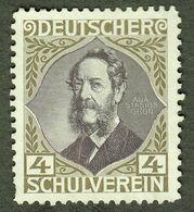 """Österreich Böhmen ~ 1910 """" Anastasius Grün Graf Auersperg Deutscher Schulverein """" Vignette Cinderella Reklamemarke - Erinnofilia"""