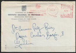 España. 1977. Sobre Del Ministerio De Trabajo. Instituto Nacional De Previsión. - 1931-Aujourd'hui: II. République - ....Juan Carlos I