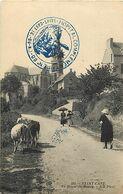 - Côtes D Armor -ref-D147- Saint Cast - St Cast -entrée Du Bourg-marcophilie Hopital Complementaire N°60 - Guerre1914-18 - Saint-Cast-le-Guildo