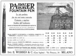 Parker Lucky Curve Fountain Pen. Advertising  1916 - Publicidad