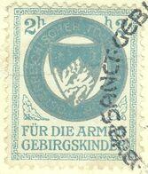 """Österreich 1949 """" Für Die Armen Gebirgskinder """" Auf Orts-Bedarfskarte Mit So-o Vignette Cinderella Reklamemarke - Erinnofilia"""