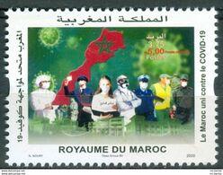 Maroc / Morocco - Timbre 2020 Unis Contre COVID-19 Corna Virus - Neuf** - Marokko (1956-...)