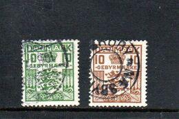 DANEMARK 1926-31 O - Segnatasse