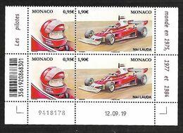 Monaco 2020 - Yv N° 3229 & 3230 ** - Niki Lauda - Unused Stamps