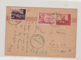 CROATIA WW II VARAZDIN Priority Postal Stationery Legions In Russia - Croatia