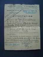 ATTESTATION SINISTRE BOMBARDEMENT 1945 : Cachets PREFECTURE PGDR - TOULON - 1939-45