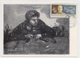 CARTE MAXIMUM CM Card USSR RUSSIA 2nd WW War Partisan Poletaev Hero Italy - Maximum Cards