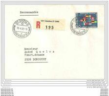 166 - 47 -  Enveloppe Recommandée Envoyée Depuis L'OMS - Timbre CERN 1966 - Atomenergie