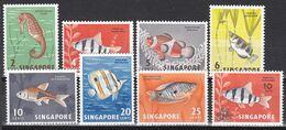 Tr_ Singapur 1962/67 - Lot Freimarken - Postfrisch MNH - Tiere Animals Fische Fishes - Fische