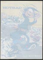 GASTON LAGAFFE FRANQUIN DUPUIS - Autocollant 14,5x20cm. A Appliquer Sur Surface Transparente. - Zelfklevers