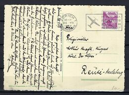 SUISSE Poste Aérienne 1937: CP Illustrée De Zürich Pour Hasleberg Affranchie à 0,10 Fr., CAD Spécial - Airmail