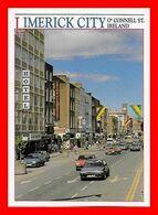 2 CPSM/gf LIMERICK (Ireland)  O' Connell Street / Treaty Stone...B544 - Limerick