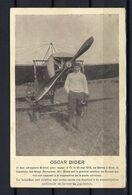"""SUISSE Poste Aérienne 1913: """"1er Vol Postal Suisse"""", CP Illustrée De Bienne Pour Brugg Affranchie à 5c., CAD Spécial - Airmail"""