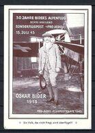 SUISSE Poste Aérienne 1943: CP Illustrée De Berne Pour Zürich Affranchie à 1Fr. Avec Le F36,  CAD Spécial - Airmail