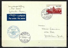 SUISSE Poste Aérienne 1943: LSC De Zürich Pour Berne Affranchie à 1Fr. Avec Le F36,  CAD Spécial - Airmail