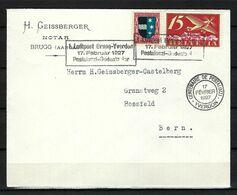 SUISSE Poste Aérienne 1927: LSC De Brugg Pour Berne Avec Le F3,  CAD Spécial - Airmail
