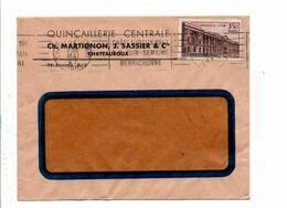 N° 780 SEUL SUR LETTRE DE PARIS 1947 - Marcofilia (sobres)