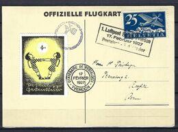 SUISSE Poste Aérienne 1927: CP Illustrée De Bâle Pour Berne Avec Le F5 Et Vignette Commémorative,  CAD Spécial - Airmail
