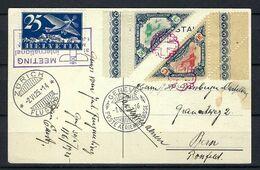 SUISSE Poste Aérienne 1930: CP Illustrée De Zürich Pour Berne Avec Le F5,  CAD Et Vignettes Spéciaux - Airmail