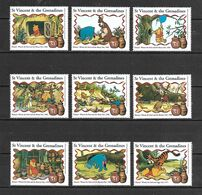 Disney St Vincent 1998 Winnie The Pooh Stamps From Sheetlet MNH (D0567) - Disney