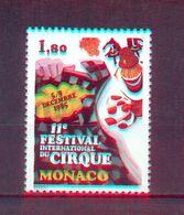Monaco 1985 - 11th International Circus Festival, Monaco - Stamp 1v- Complete Set - MNH** Excellent Quality - Monaco