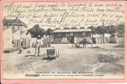 Fabrique De Moellons En Machefer Delorme Boulevard Jules Ferry Passage Gerbey Roanne Dos Illustré - Roanne