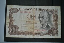 Espagne 1970 Billet 100 Pesetas - [ 3] 1936-1975 : Regime Di Franco
