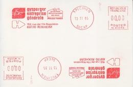 E.M.A Spécimen Secap NL W0059 (Gysperger : Asséchement Des Murs), Le 13 11 85 à Rixheim - Other