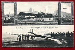 Luxembourg  Düdelingen Erste Flugmaschine ( Lanser 1911 )  ( +- 1 Cm Eingerissen Unten Linke Ecke ) - Dudelange