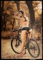 Bike Sexy Girl Carte Postale - Publicidad