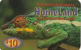 USA - Iguana, Homeland By Axistel Prepaid Card $10, Used - Unclassified