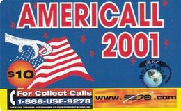 USA - Americall 2001, WorldxChange Comm/CTS Telecom Prepaid Card $10, Used - United States