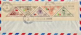 Dominican Republic 2 Sheetlets On 2 FDCs - Verano 1956: Melbourne