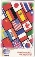 USA - Flags, Teltek International Prepaid Card, Sample - Unclassified