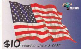 USA - Flag, Nufon Prepaid Card $10, Used - Unclassified