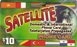 USA - Flags, Satellite, Sky Telecom Prepaid Card $10, Used - Unclassified