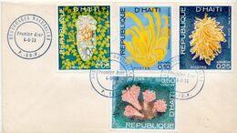 Haiti Stamps On FDC - Vita Acquatica