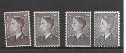 België  N° 879-879A-879APs-879AP5 Xx Postfris  Cote 144 Euro - Unused Stamps