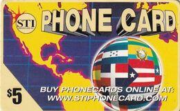 USA - Flags, STI Prepaid Card $5, Used - Unclassified