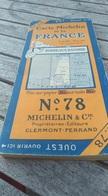 Carte Michelin De La France Sur Toile. N°78. Toilée. Bordeaux - Bayonne. Echelle 1/200.000 - Roadmaps