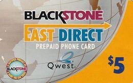 USA - Q West, Blackstone Prepaid Card $5, Used - Unclassified