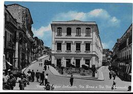 Vizzini (Catania). Edificio Scolastico - Via Roma E Via Vittorio Emanuele. Tabelle Birra Forst Al Centro. - Catania