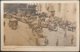 MILITARIA CPA MILITAIRES ALLEMANDS SOLDATS 1918 BEFORDERUNG VON GESCHOSSEN AUF DER FELDBAHN NACH DER VORDERSTEN STELLUNG - Weltkrieg 1914-18